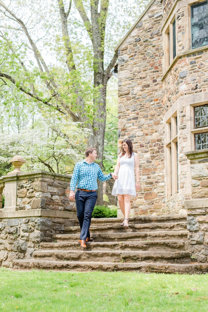 outdoor romantic engagement session with Renee Nicolo Photography