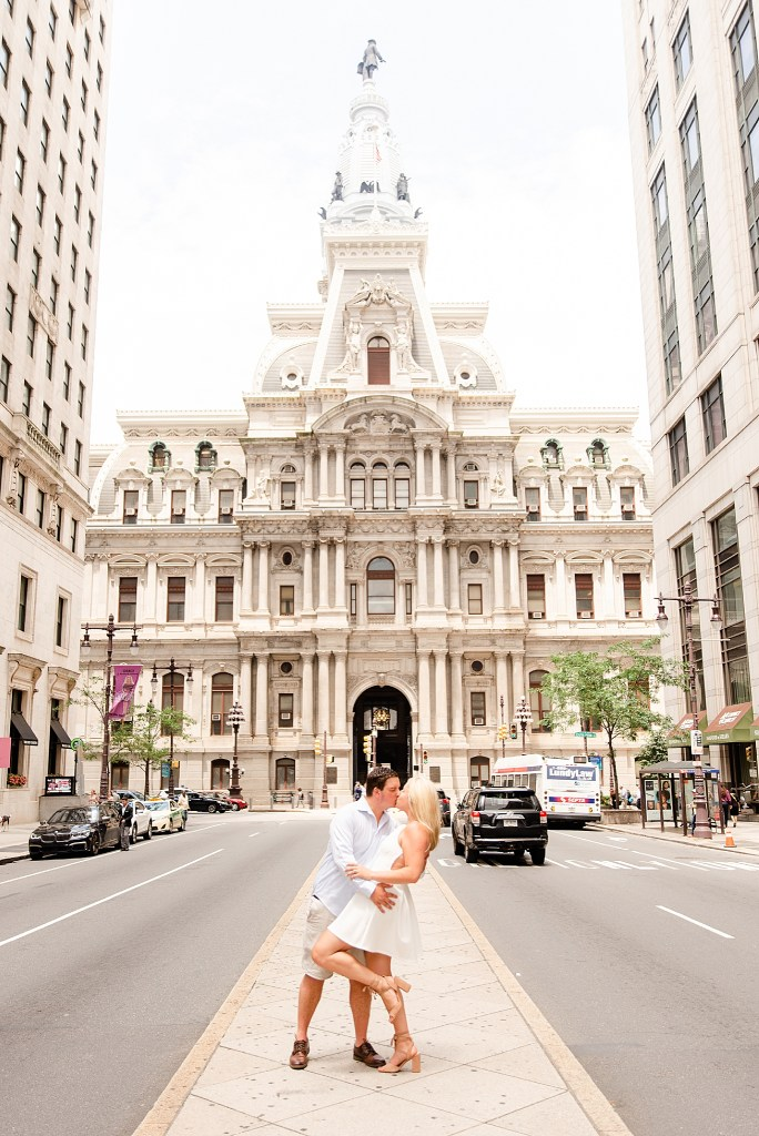 A City Center engagement session with Renee Nicolo Photography