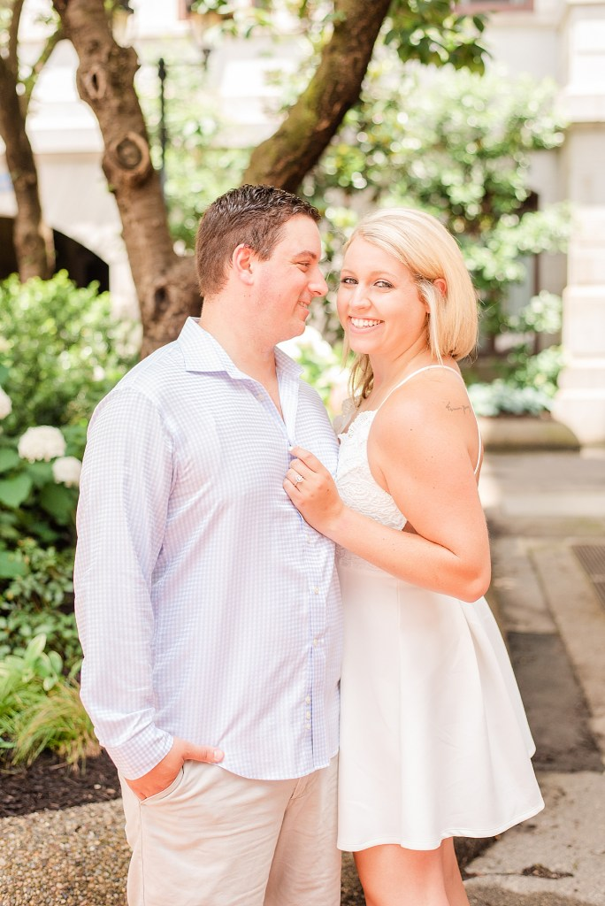 summer engagement portraits by Renee Nicolo Photography in Center City Philly
