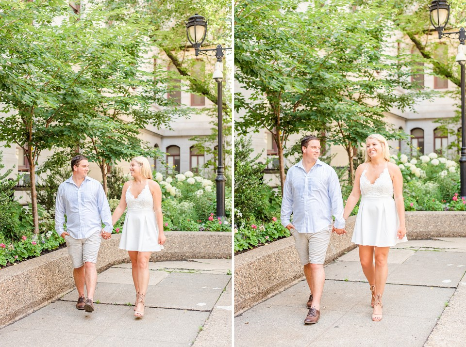 Center City PA engagement session in the summer with Renee Nicolo Photography