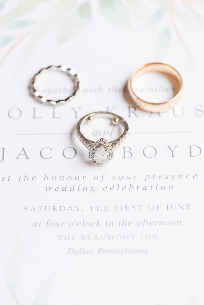 wedding jewelry photographed by PA wedding photographer Renee Nicolo Photography