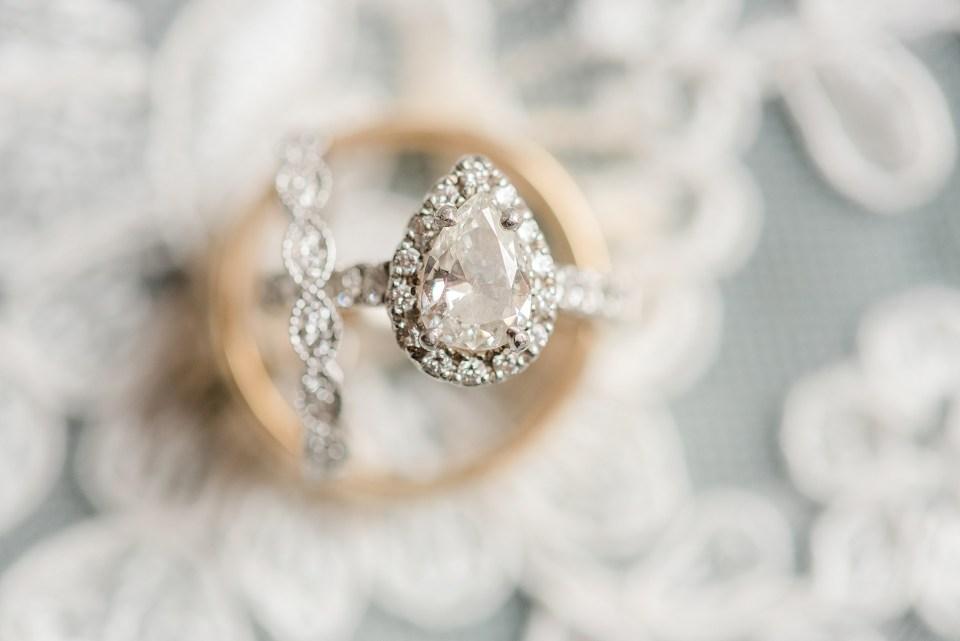 classic wedding ring photographed by wedding photographer Renee Nicolo Photography
