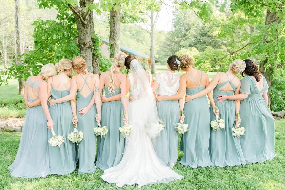 classic bridesmaid portraits with wedding photographer Renee Nicolo Photography