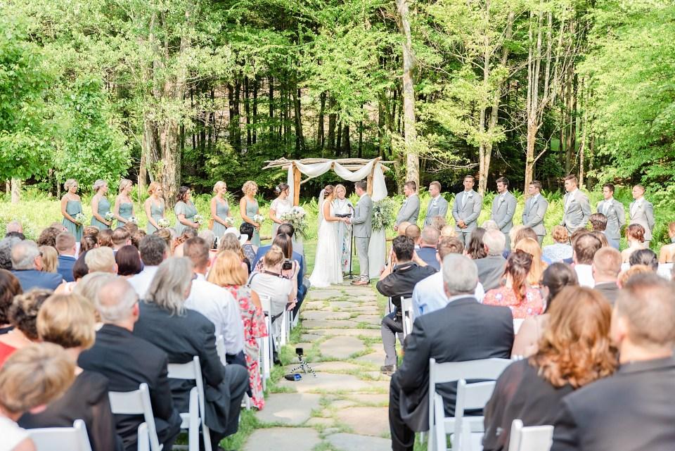 wedding ceremony at Beaumont Inn with wedding photographer Renee Nicolo Photography