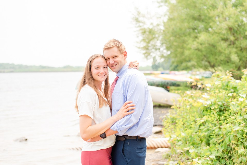 engagement session by the water in Peace Valley PA with Renee Nicolo Photography