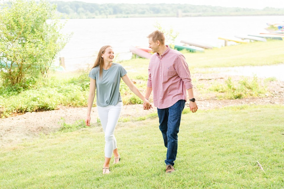engagement session in Peace Valley Park with PA wedding photographer Renee Nicolo Photography