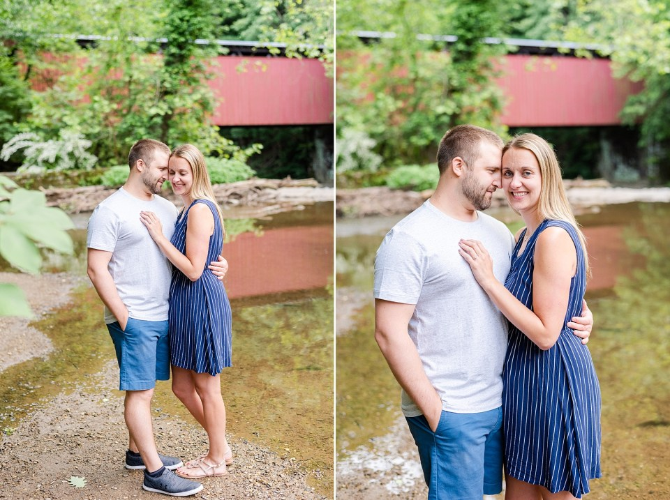 Wissahickon Creek Engagement portraits with Renee Nicolo Photography