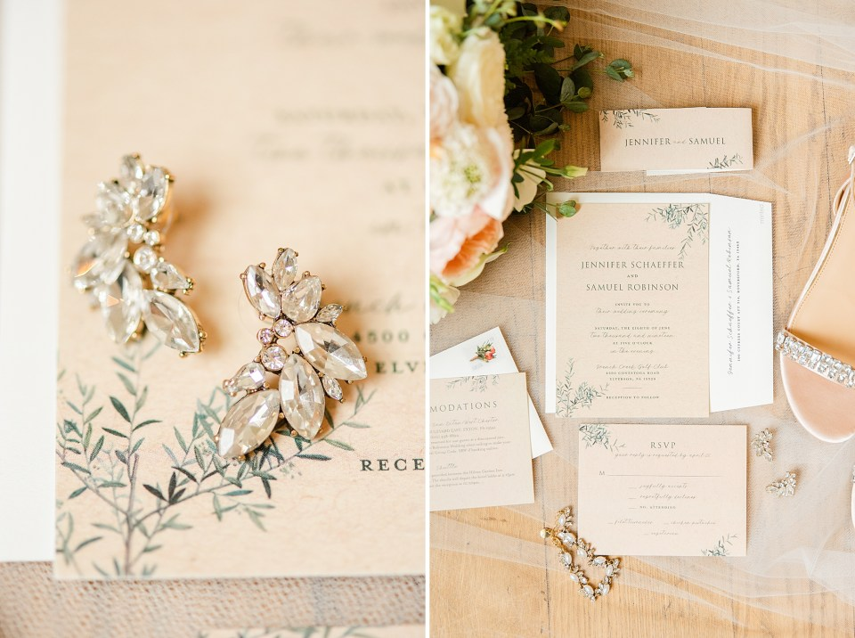 rustic wedding details for French Creek Golf Club wedding day photographed by Renee Nicolo Photography