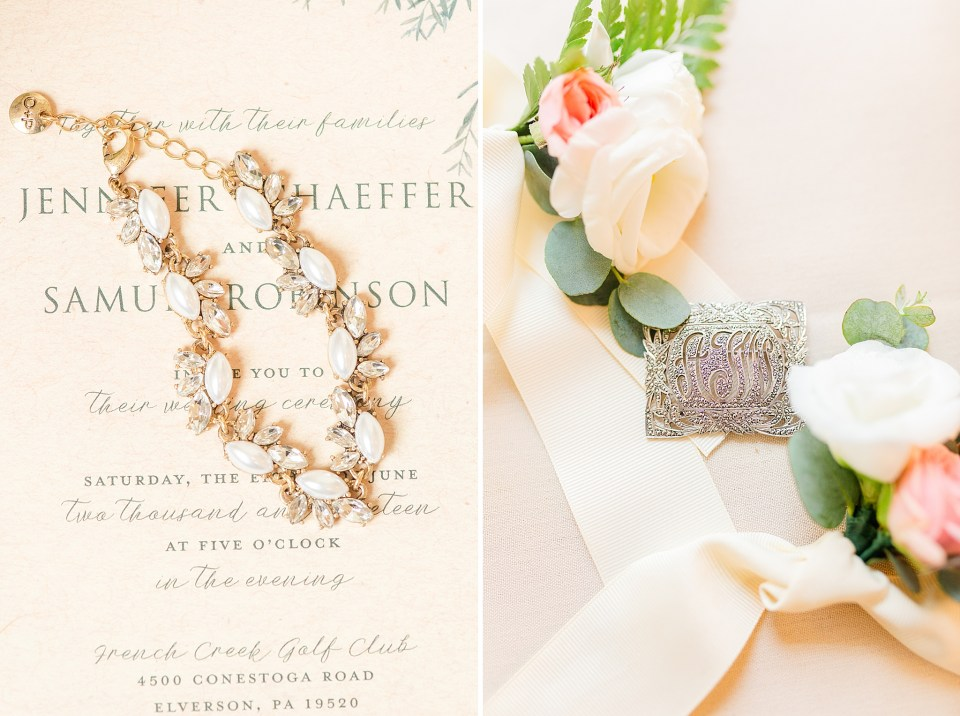 wedding details photographed by Pennsylvania wedding photographer Renee Nicolo Photography