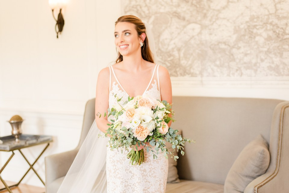 chic bridal portrait photographed by Renee Nicolo Photography