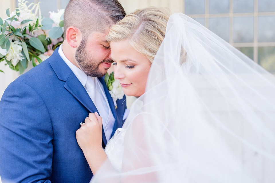 romantic wedding portraits at French Creek Golf Club photographed by Renee Nicolo Photography