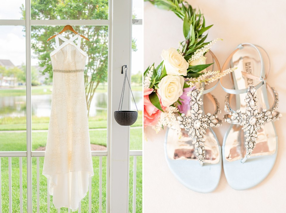 wedding details for boho bride at Rehoboth Beach photographed by Renee Nicolo Photography