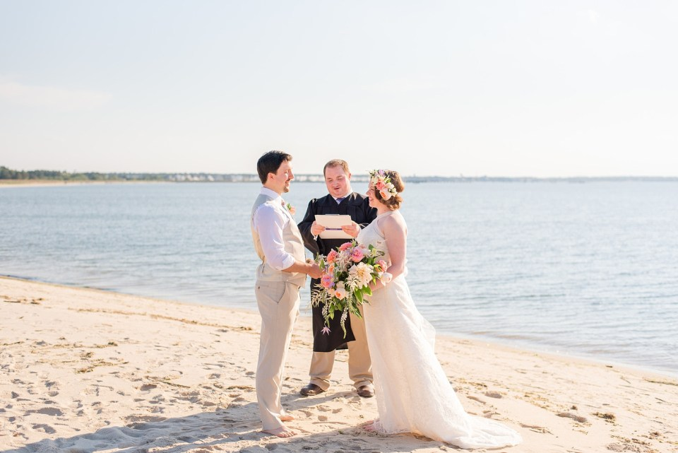 beach elopement at Rehoboth Beach with Renee Nicolo Photography