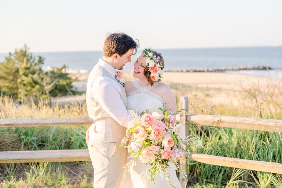 Renee Nicolo Photography captures wedding portraits at Rehoboth Beach
