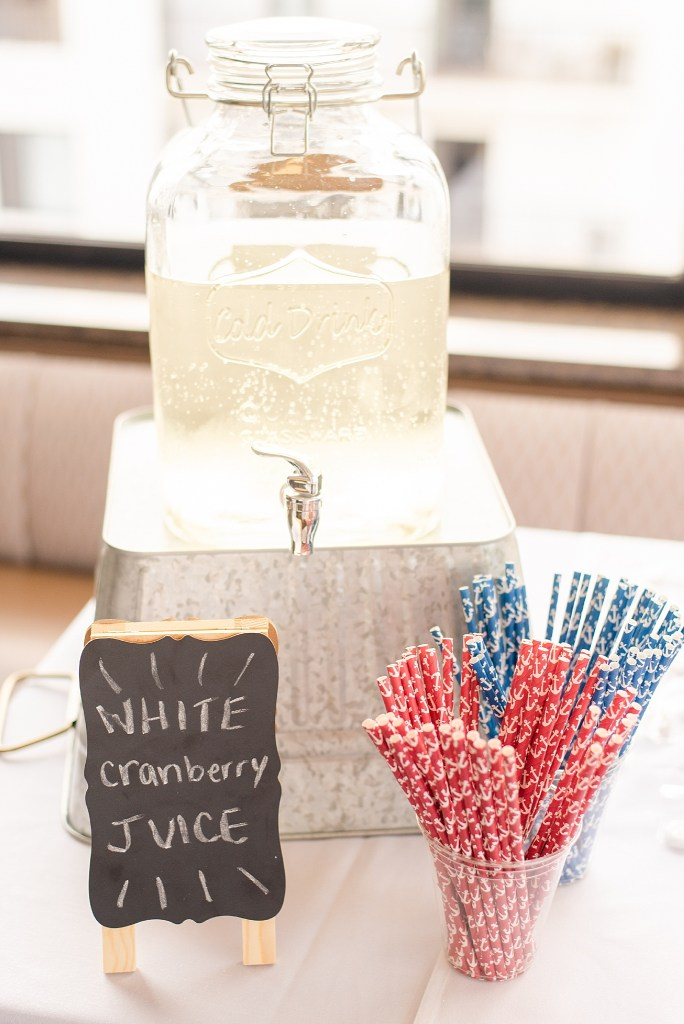 wedding reception details for fourth of July weekend wedding photographed by Renee Nicolo Photography