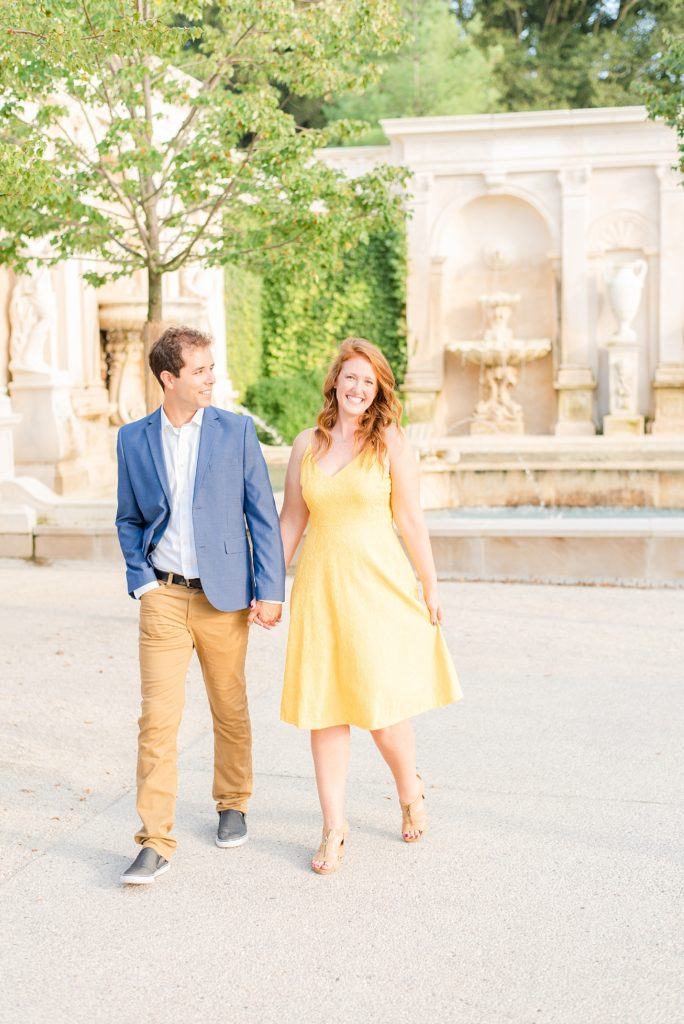 Renee Nicolo Photography photographs summer engagement at Longwood Gardens