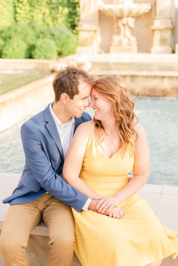 Renee Nicolo Photography photographs engagement session with couple at Longwood Gardens