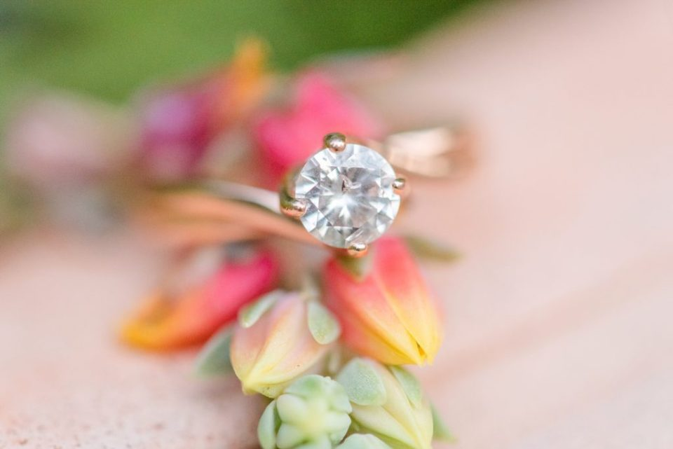 engagement ring photographed by PA photographer Renee Nicolo Photography