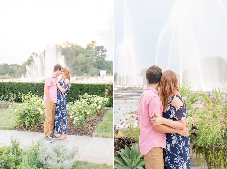 Longwood Gardens engagement session with Renee Nicolo Photography