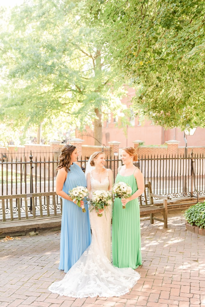 PA wedding photographer Renee Nicolo Photography photographs bridesmaids and bride