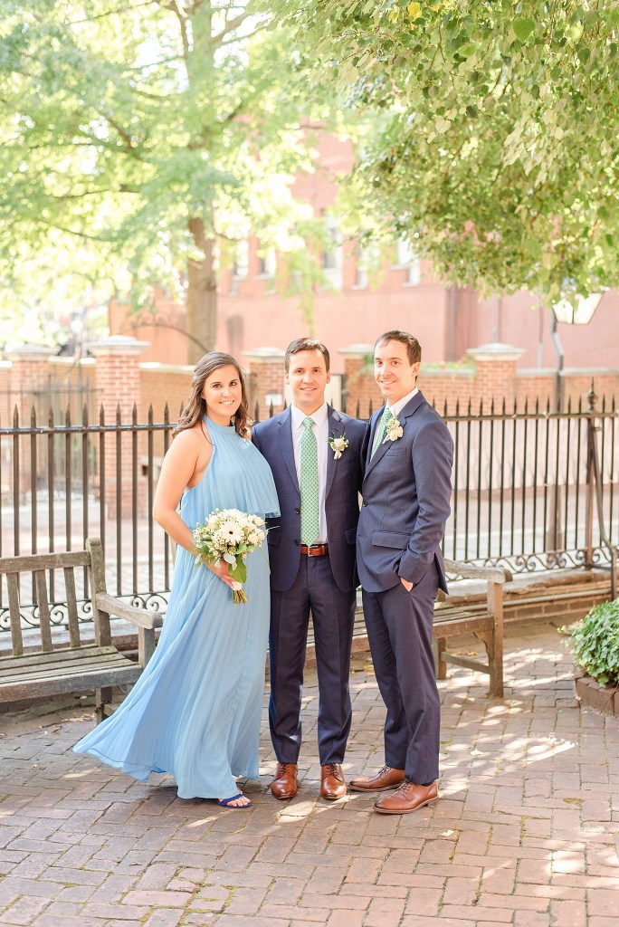 groom and his siblings photographed by Renee Nicolo Photography