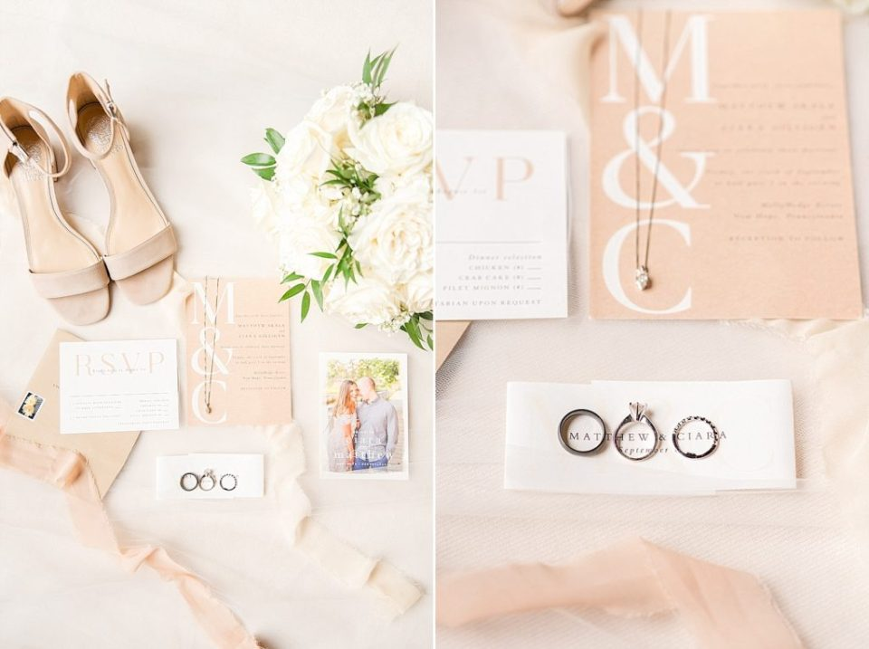 wedding details for PA wedding day with Renee Nicolo Photography