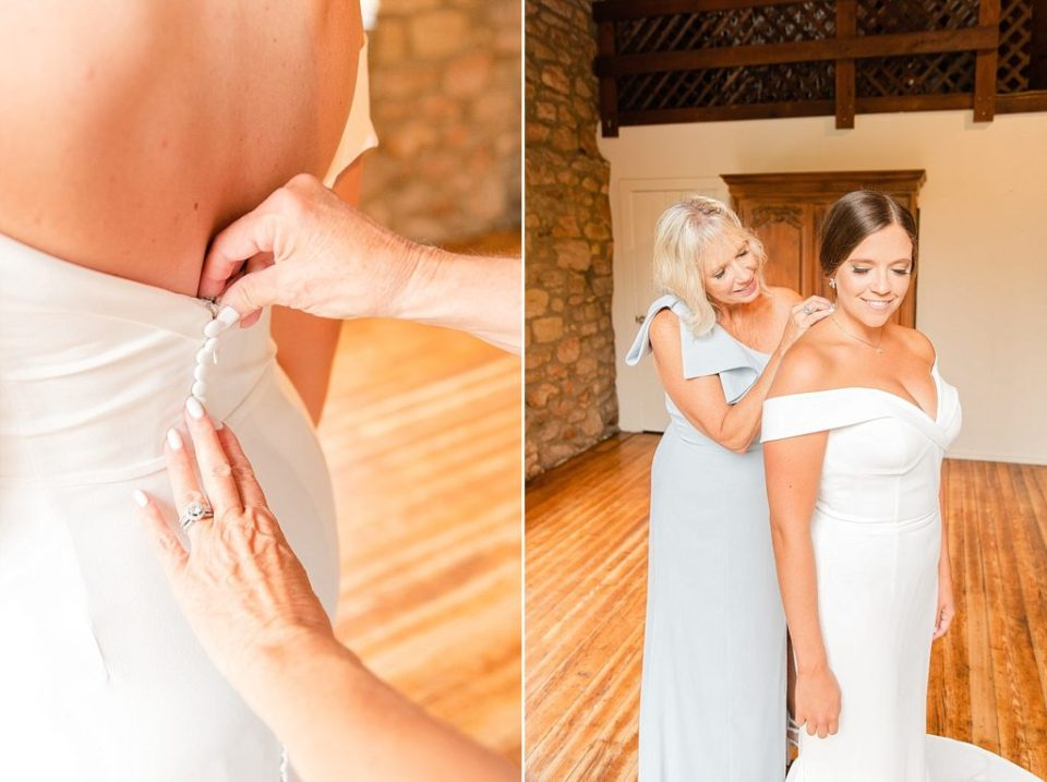 special moments with mother of bride on wedding day with Renee Nicolo Photography