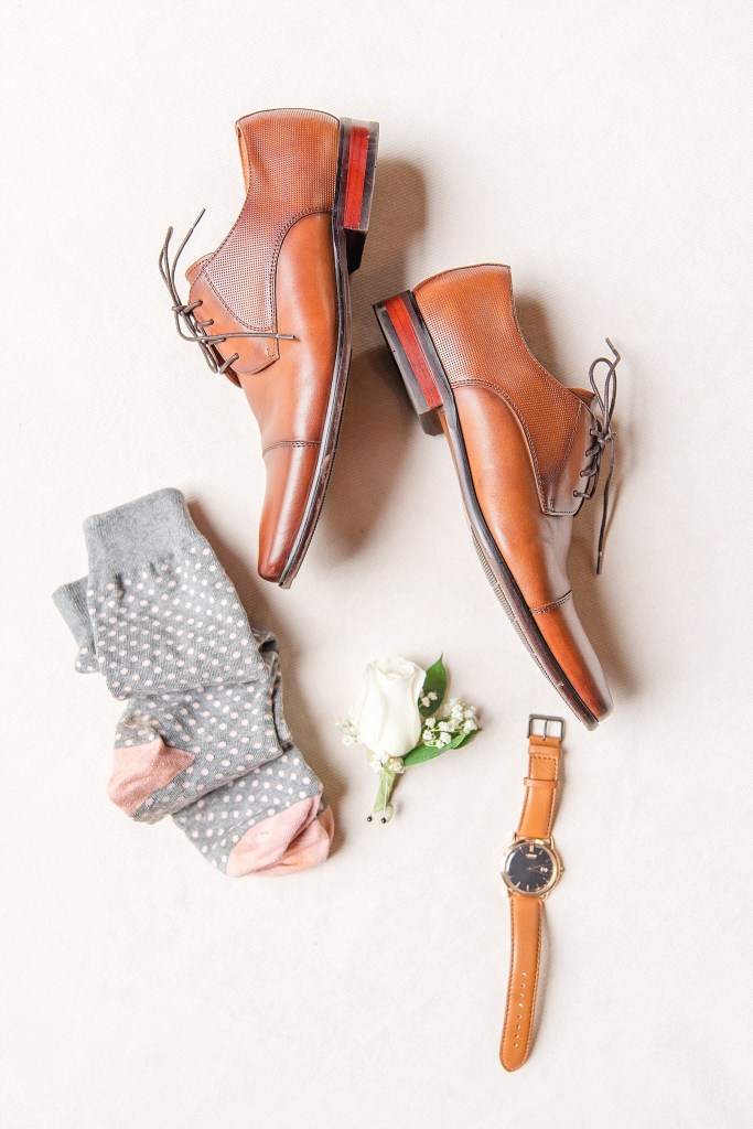 groom's shoes for wedding day with Renee Nicolo Photography