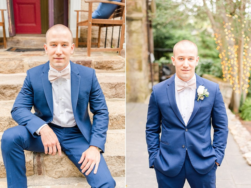 Renee Nicolo Photography photographs groom's portraits on PA wedding day