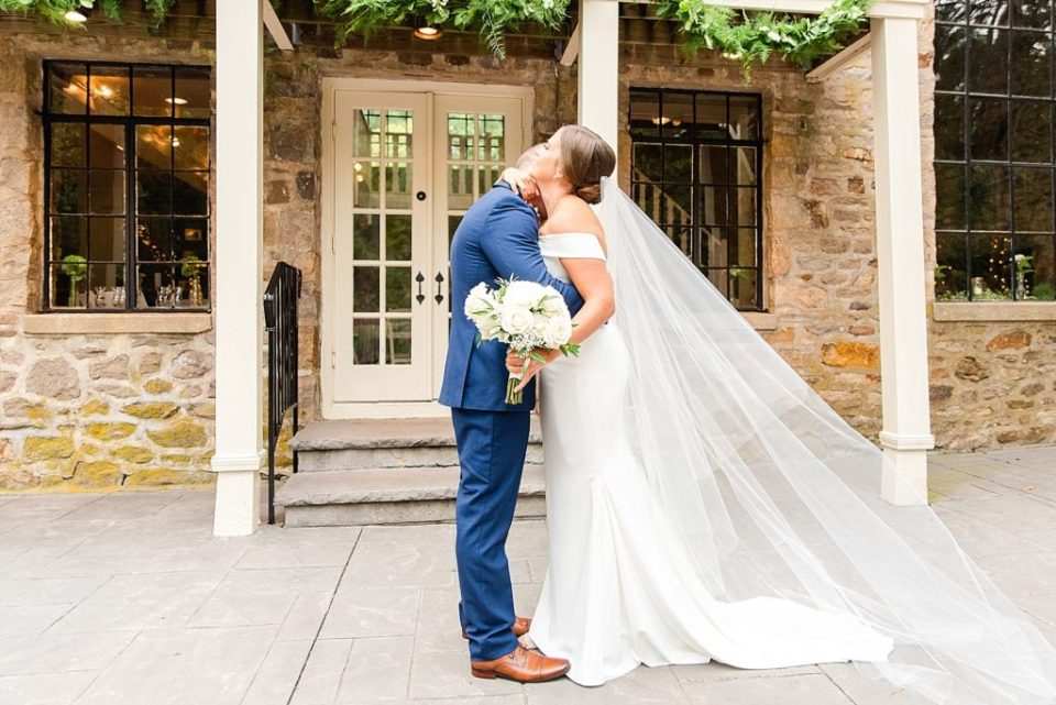 PA first look on wedding day with Renee Nicolo Photography