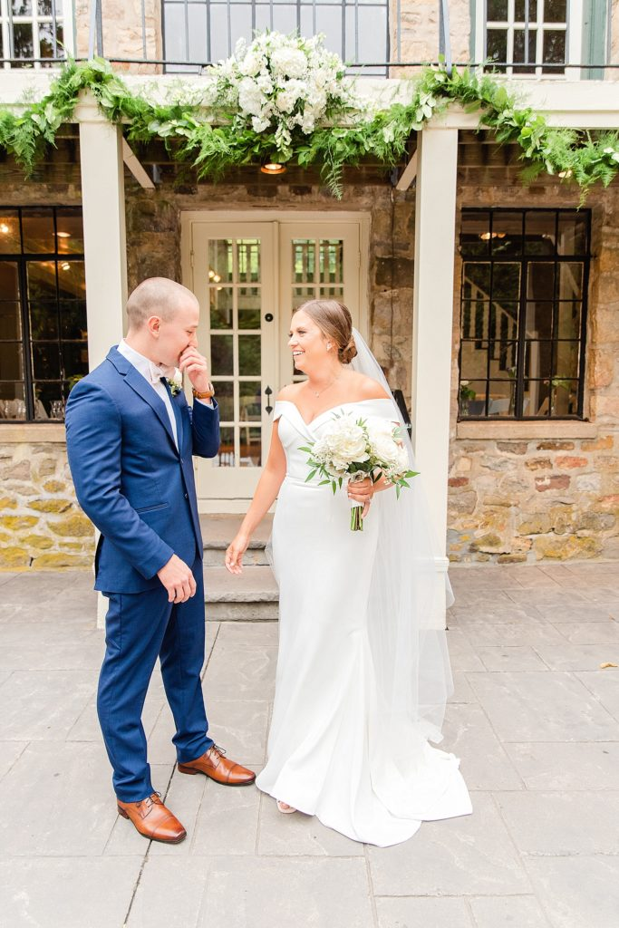 PA wedding day first look photographed by Renee Nicolo Photography