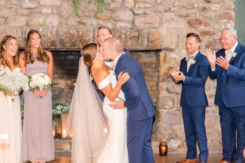 indoor cozy wedding ceremony photographed by Renee Nicolo Photography