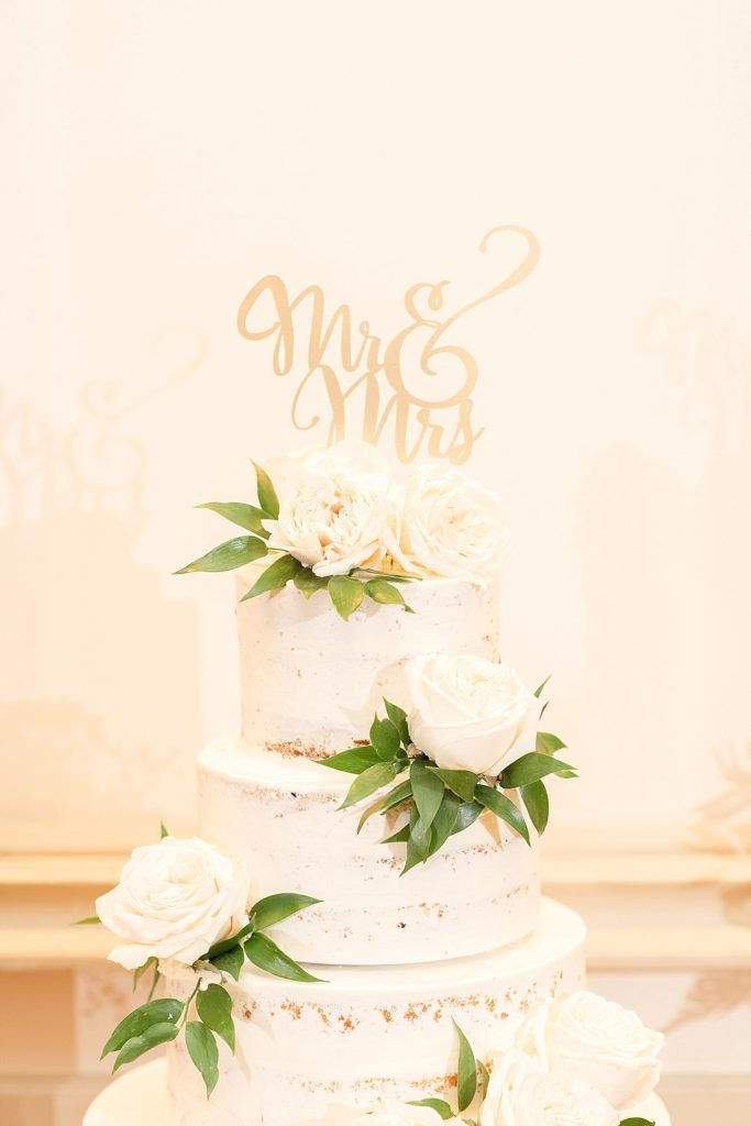 naked cake topper with Renee Nicolo Photography