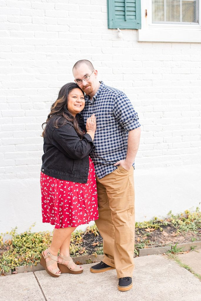 anniversary photo session on Doylestown street with Renee Nicolo Photography