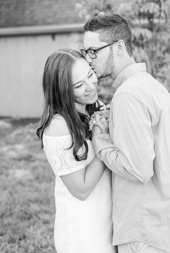 summer farm engagement portraits with Renee Nicolo Photography