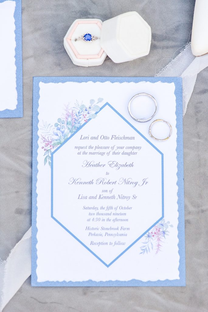PA wedding day stationery photographed by Renee Nicolo Photography