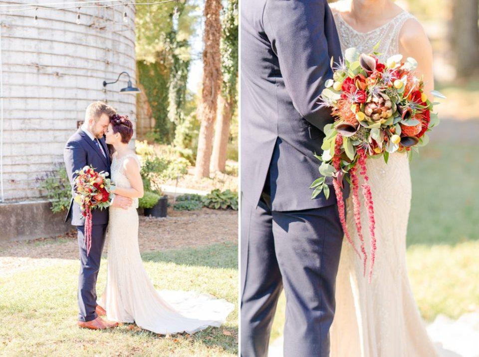 Renee Nicolo Photography photographs fall wedding day at Historic Stonebrook Farm