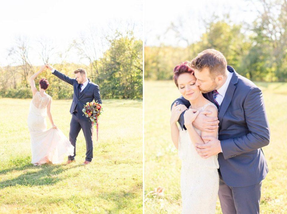 Renee Nicolo Photography photographs happy couple on wedding day in PA