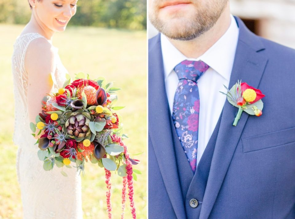 fall wedding floral details photographed by Renee Nicolo Photography