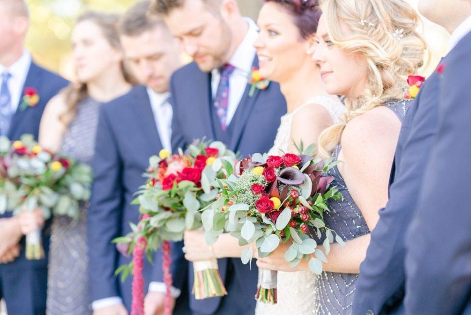 bridal party portraits at Historic Stonebrook Farm by Renee Nicolo Photography