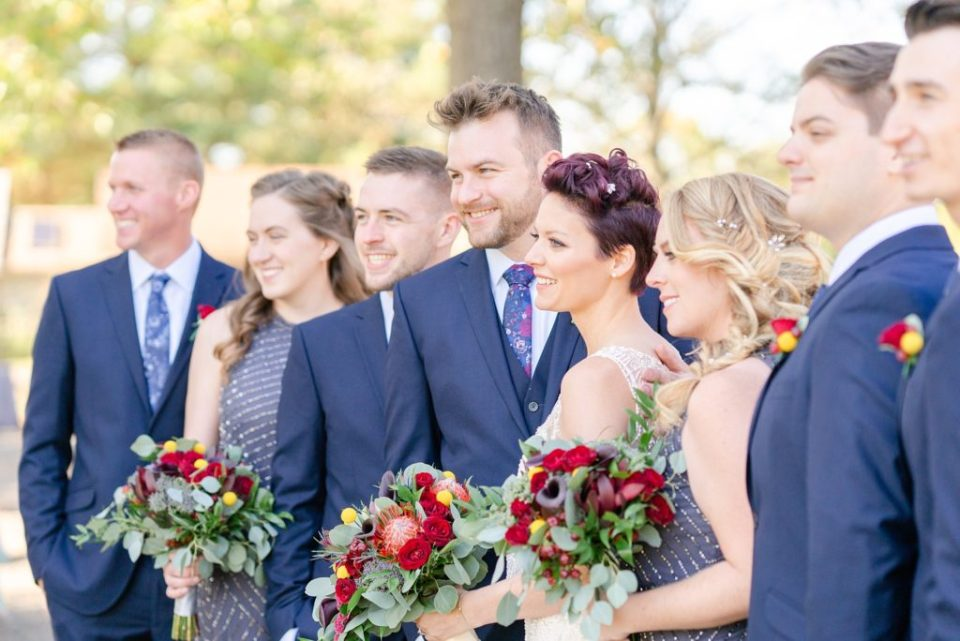 wedding party photographed by Renee Nicolo Photography in PA