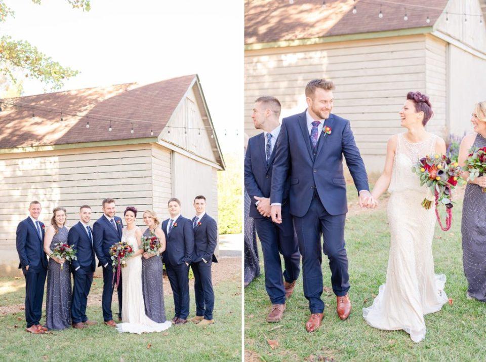 wedding party photographed by PA wedding photographer Renee Nicolo Photography
