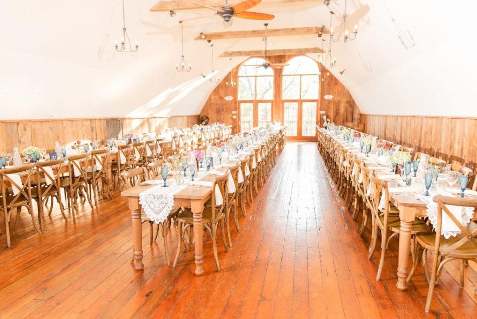 Historic Stonebrook Farm wedding reception photographed by Renee Nicolo Photography