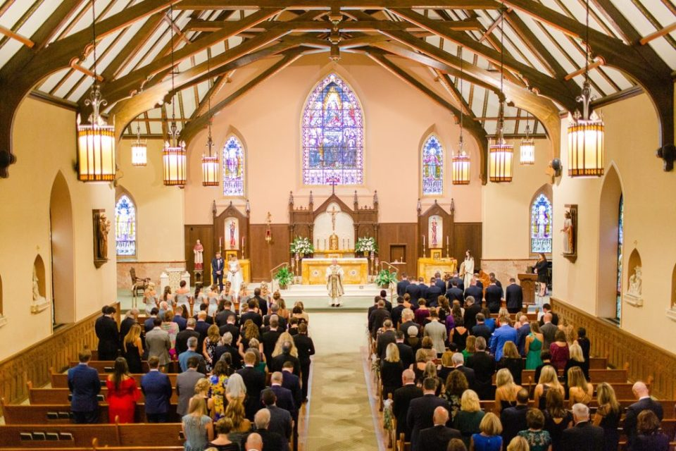Philly PA wedding ceremony in church photographed by Renee Nicolo Photography