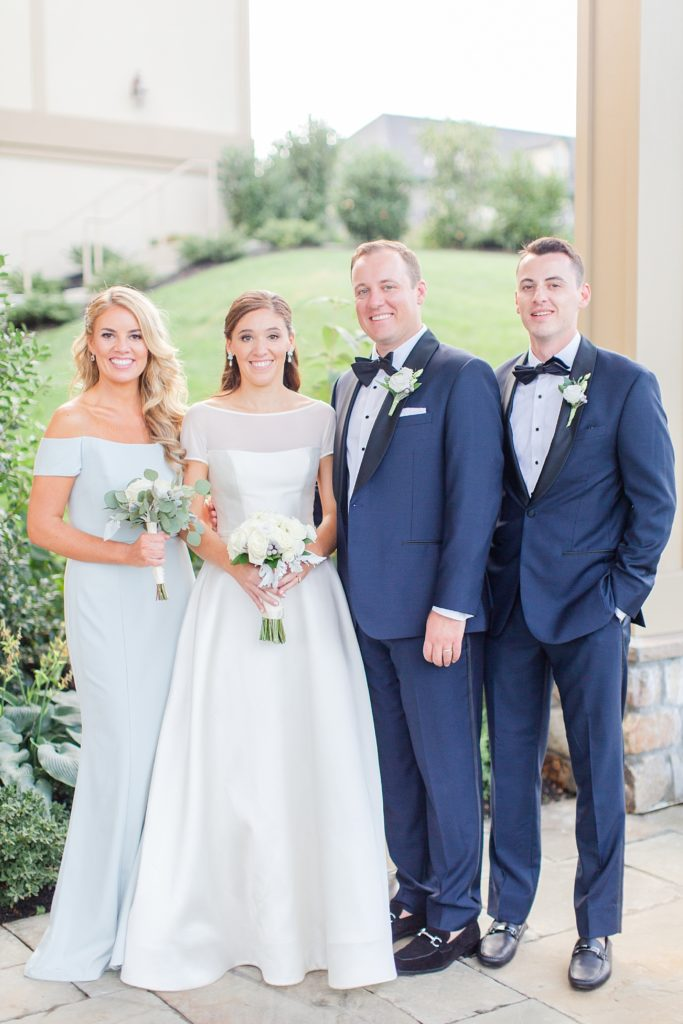 bride and groom with siblings for PA wedding day with Renee Nicolo Photography