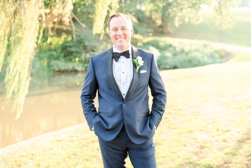 groom's portrait for Lafayette Hill wedding day with Renee Nicolo Photography