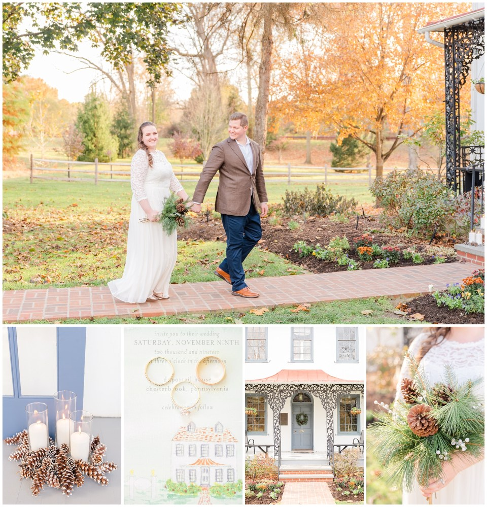 An intimate Duportail House wedding photographed by PA wedding photographer Renee Nicolo Photography