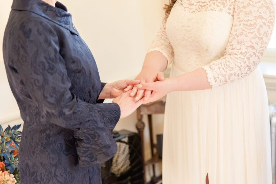 Renee Nicolo Photography photographs bride and mother on wedding day