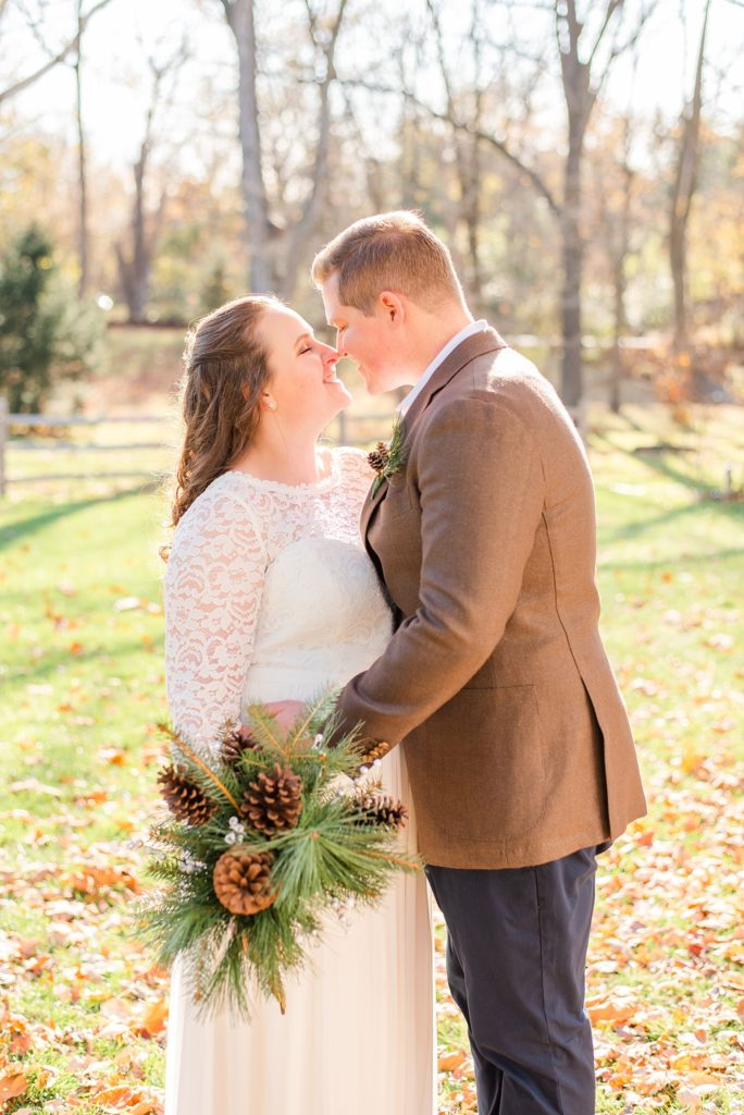 intimate fall wedding portraits with Renee Nicolo Photography