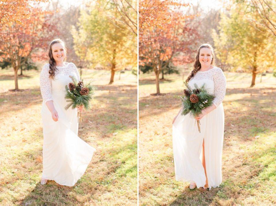 fall bridal portraits with PA wedding photographer Renee Nicolo Photography